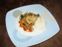 Paprika - Kokos - Curry mit Basmatireis - Rezept