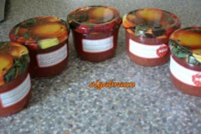 Weinbergpfirsich-Blutorangen-Marmelade - Rezept