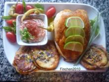 """""""Bella Donna"""" Hähnchen an Auberginen im Tete de Moine-Mantel und Cajun Spice - Dip - Rezept"""