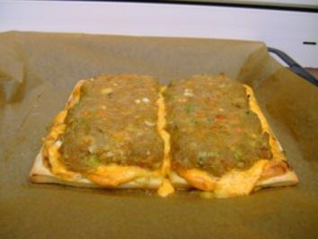 Hackfleischpizza Chakalaka - Rezept
