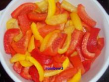 Snack: Antipasti - eingelegte Paprika - Rezept