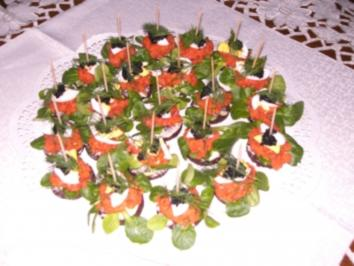 Lachs-Tatar-Häppchen - Rezept