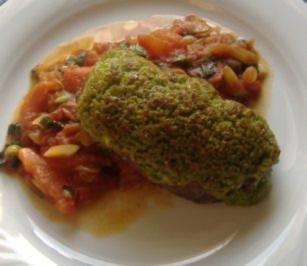 Rumpsteak mit Knoblauch-Kräuter-Kruste und warmen Tomatensalat - Rezept