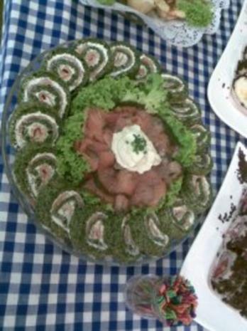 Lachs-Spinat Rolle - Rezept - Bild Nr. 2