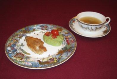 Brust vom Stubenküken mit Guacamole und Portweinessenz - Rezept