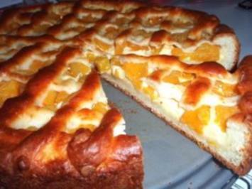 Torte: Aprikosen-Pudding-Torte - Rezept
