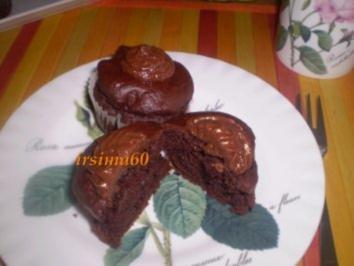 Schokomuffins mit Trüffelhäubchen - Rezept