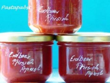 Erdbeer-Pfirsich-Aperol Konfitüre - Rezept