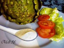 Vorspeisen: Artischocken mit Knoblauchdip - Rezept