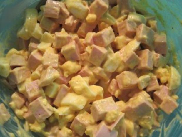 Eiersalat mit Fleischwurst - Rezept - Bild Nr. 5
