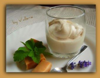 Karamellbonbon Eis - Rezept