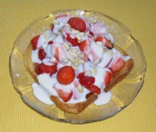Erdbeerragout auf French-Toast - Rezept