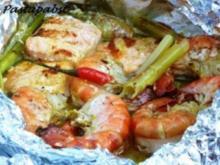 Curry-Fischpäckchen vom Grill - Rezept