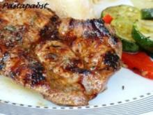 Marinerte Nackensteaks vom Grill - Rezept