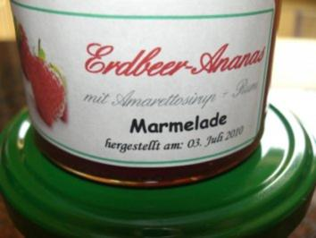 M+G:  ERDBEER - ANANAS - MARMELADE - Rezept