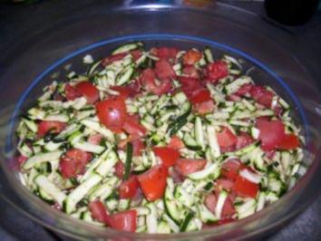 Zucchini-Tomaten-Salat - Rezept