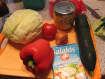 Salat vom Griechen wie ich ihn mir mache - Rezept
