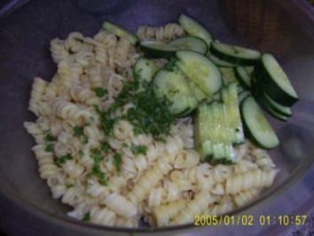Erfrischender Nudelsalat - Rezept