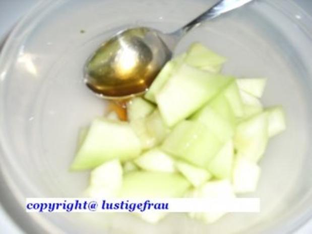 CAmpari-Orangensorbet mit Melone - Rezept - Bild Nr. 3