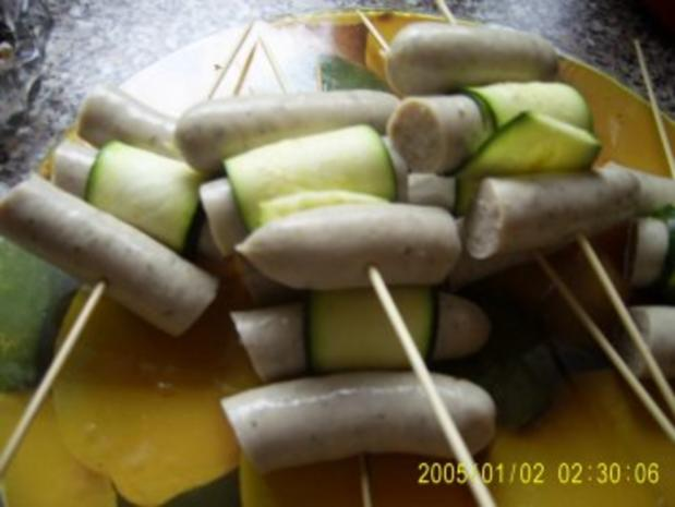 Wurst-Zucchini-Spieße - Rezept - Bild Nr. 2