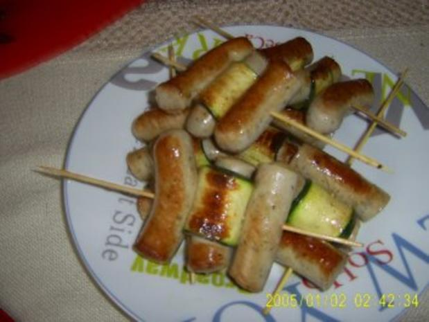 Wurst-Zucchini-Spieße - Rezept - Bild Nr. 4