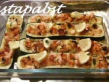 Zucchini mit einer Lachs-Parmesan-Füllung - Rezept