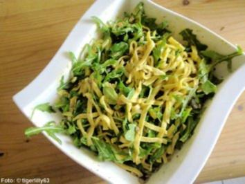Rezept: Tagliatelle mit Oliven und Rucola