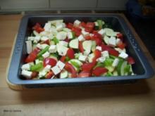 Hähnchenschlegel auf Mediteranem Gemüse - Rezept