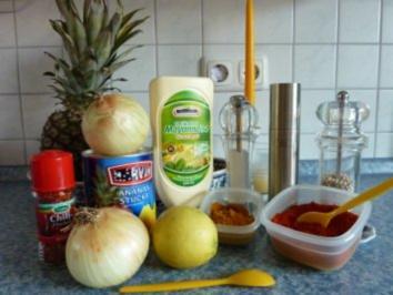 Zwiebelsalat mit Ananas - Rezept