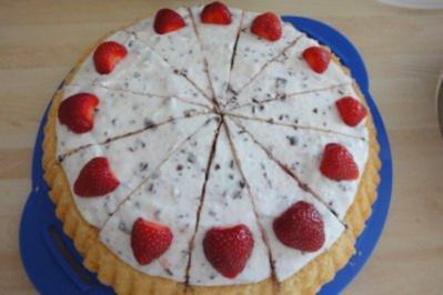 Stracciatella-Erdbeer-Kuchen - Rezept