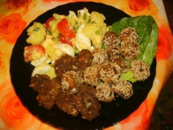 Sesam-Hackfleischbällchen a la Suki - Rezept
