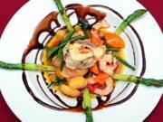 Warmer Seeteufel-Garnelensalat auf Zitronenvinaigrette - Rezept