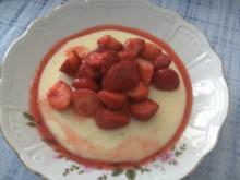 Grießbrei mit frischen Erdbeeren - Rezept