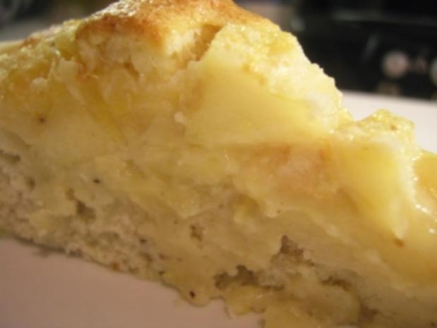 Kuchen: Apfel-Pfirsich Tarte - Rezept