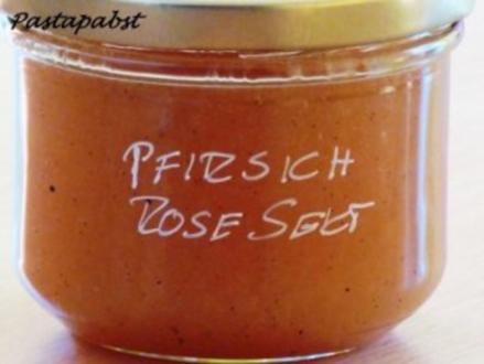 Pfirsich-Rose Konfitüre - Rezept