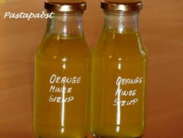 Orange-Minze-Sirup - Rezept