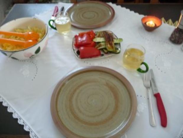 Fisch : Geräucherte Forelle mit Kartoffelsalat und Grillzucchini - Rezept - Bild Nr. 9