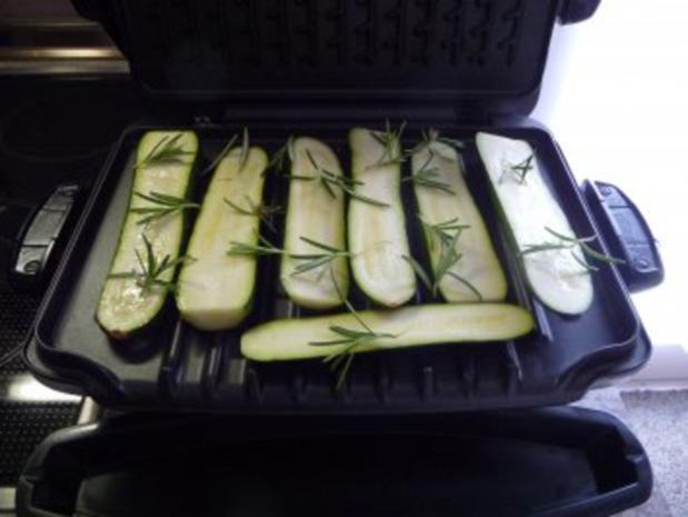 Fisch : Geräucherte Forelle mit Kartoffelsalat und Grillzucchini - Rezept - Bild Nr. 5