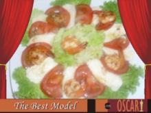 Gebratene Gambas auf Galbani Mozzarella & Tomaten-Salat - Rezept