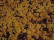 Beschwipster Pflaumen-Pudding-Streusel - Rezept