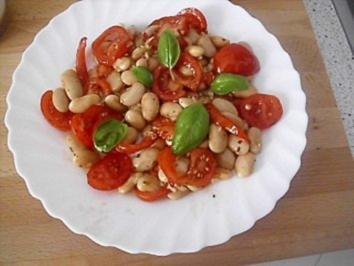 Bohnen-Tomaten-Salat - Rezept