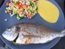 Kräuterdorade an Bulgur-Salat - Rezept