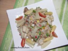 Basmati - Reispfanne mit Lachshäppchen - Rezept