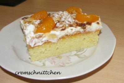 Mandarinen - Blechkuchen - Rezept
