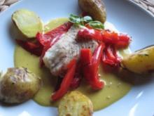 Kabeljau auf Blutorangen-Curry-Soße - Rezept
