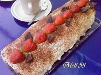Backen: Joghurt-Erdbeer- Rolle - Rezept