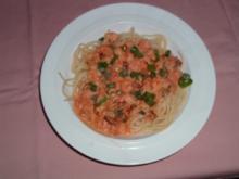 Spaghetti mit Flusskrebsschwänzen - Rezept