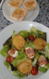 Duett von Ziegenkäse mit sommerlichen Salaten und Tomatenbrot - Rezept