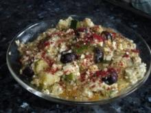 Orientalisches Zucchinimus mit Schafskäse - Rezept