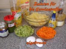 Gemüsepuffer mit Kräuterdip - Rezept